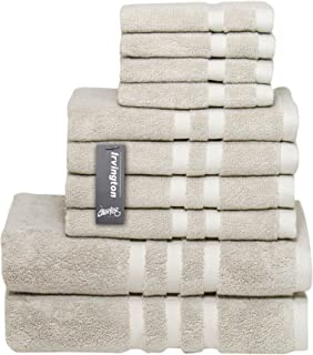 Chortex Luxury Turkish Cotton 10 Piece Towel Set, Set of 10, Flax