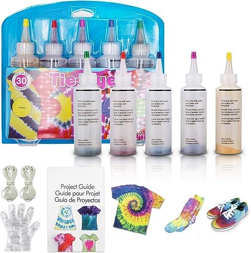 Maxshop Tie-Dye Kit   Fabric Dye, 5 Colors Shirt Dye Kit for Kids, Adults, User-Friendly, Activities Supplies DIY Dye...