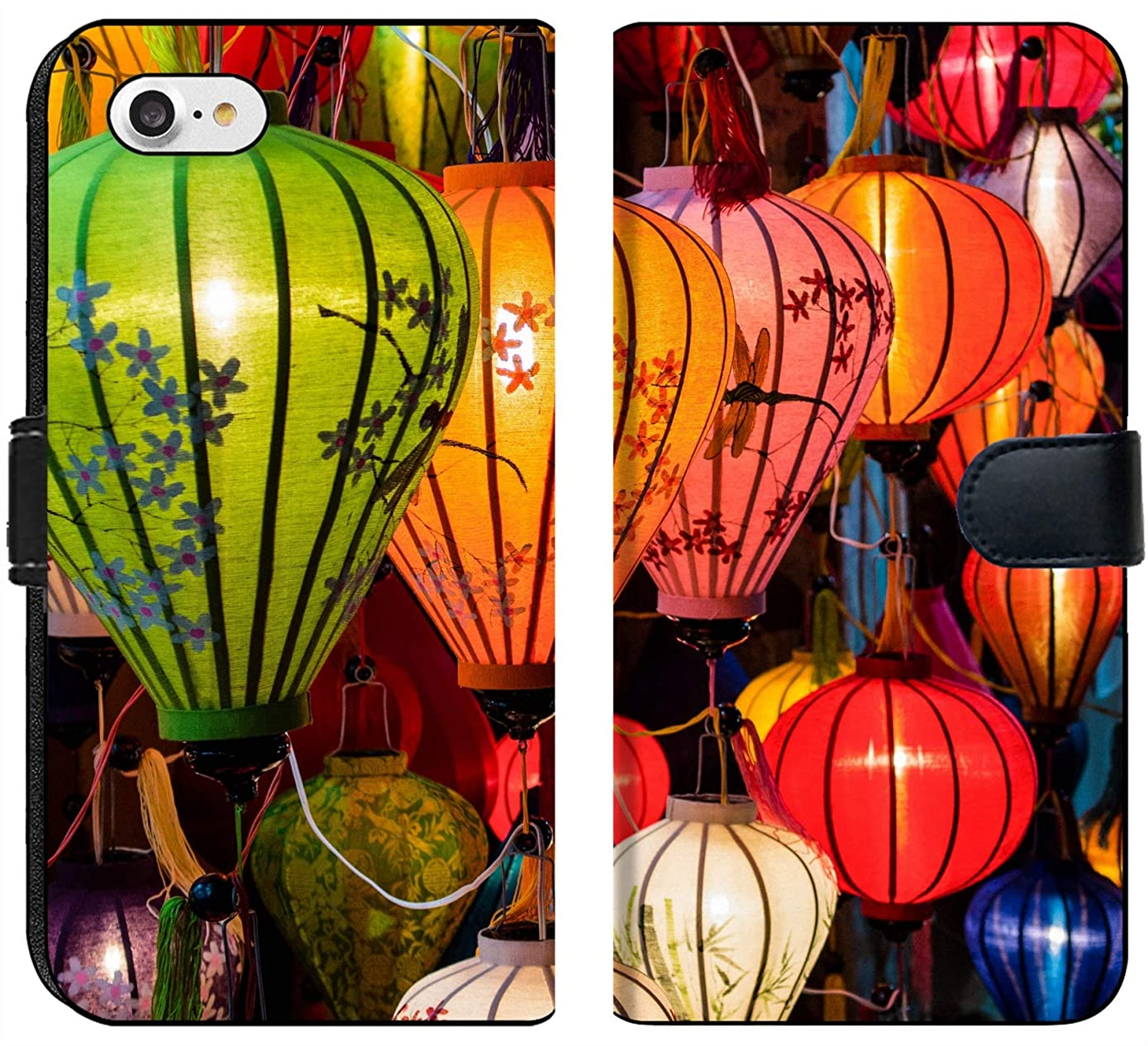 Apple iPhone 7 and iPhone 8 Flip Fabric Wallet Case Image ID: 31089698 Traditional Lamps in Old Town Hoi an Central Vietnam