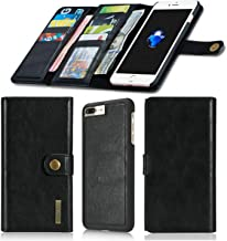 SINIANL Case for iPhone 7 Plus iPhone 8 Plus Leather Flip Folio Detachable Magnetic Wallet Case With Card Slots Cover