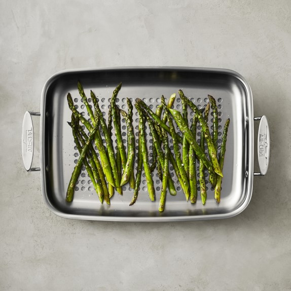 All-Clad Stainless-Steel Outdoor Roaster | Williams Sonoma