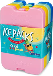 Yumbox Ice Packs - set of 4 Multi - Cool Pack, Slim Long-Lasting Ice Packs - Great for Coolers or Lunch Box