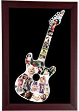 Personalized Guitar Shaped College in a Single Frame for Home Decor (Brown, 10 x 15 Inch)