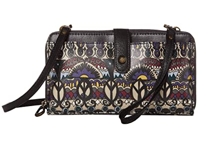 Sakroots Artist Circle Large Smartphone Crossbody (Multi One World) Clutch Handbags