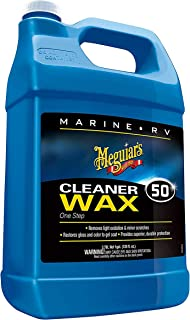 Meguiar's M5001 Marine/RV One Step Cleaner Wax, 1 gallon
