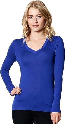 843605c4cab13f Zenana Outfitters Rayon V-Neck Long-Sleeve Tee