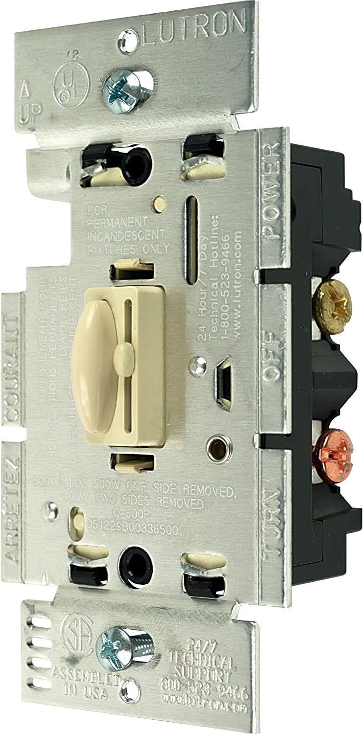 Lutron Q-603P-IV Year-end gift 600W Inexpensive 3-Way Qoto and Dimmer Ivory Switch