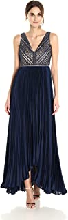 Women's Eyelet Lace and Chiffon Combo Gown