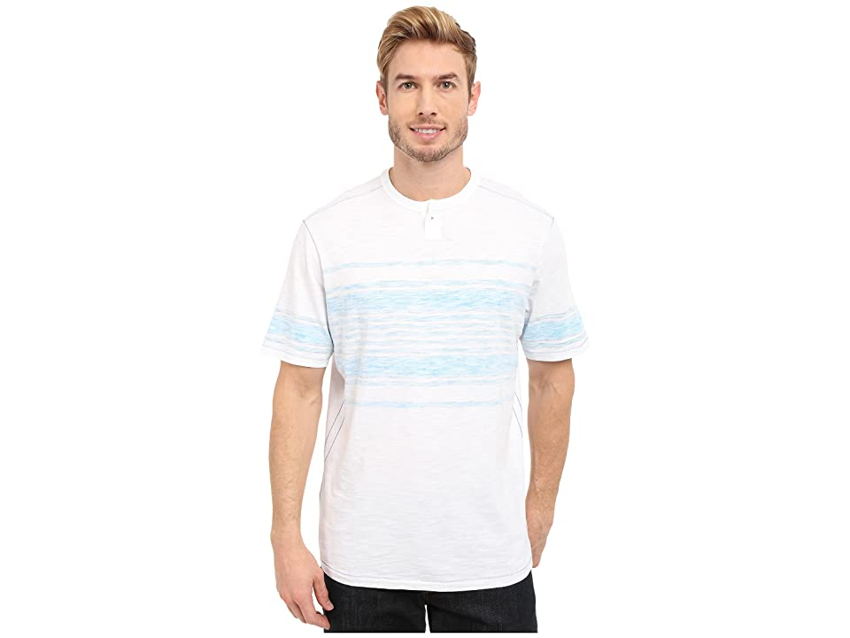 Tommy Bahama Waterway Stripe Henley (Como Blue) Men