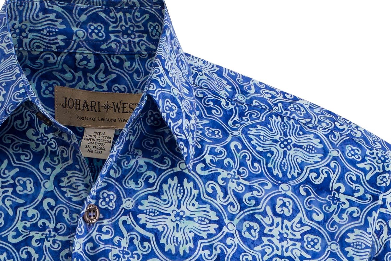 Johari West Moroccan Jazzy Tropical Hawaiian Batik Shirt by