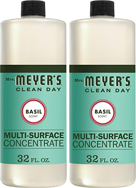 Mrs Meyer S Clean Day Multi Surface Concentrate Basil 32 Fl Oz 2 Ct