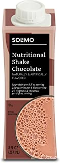 Amazon Brand - Solimo Meal Replacement Shake with 9g of protein, Chocolate, 8 Fl Oz (Pack of 28)