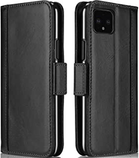 ProCase Google Pixel 4 XL Genuine Leather Case, Vintage Wallet Folding Flip Case with Kickstand Card Holders Magnetic Closure Protective Book Cover for Google Pixel 4 XL 2019 Release -Black