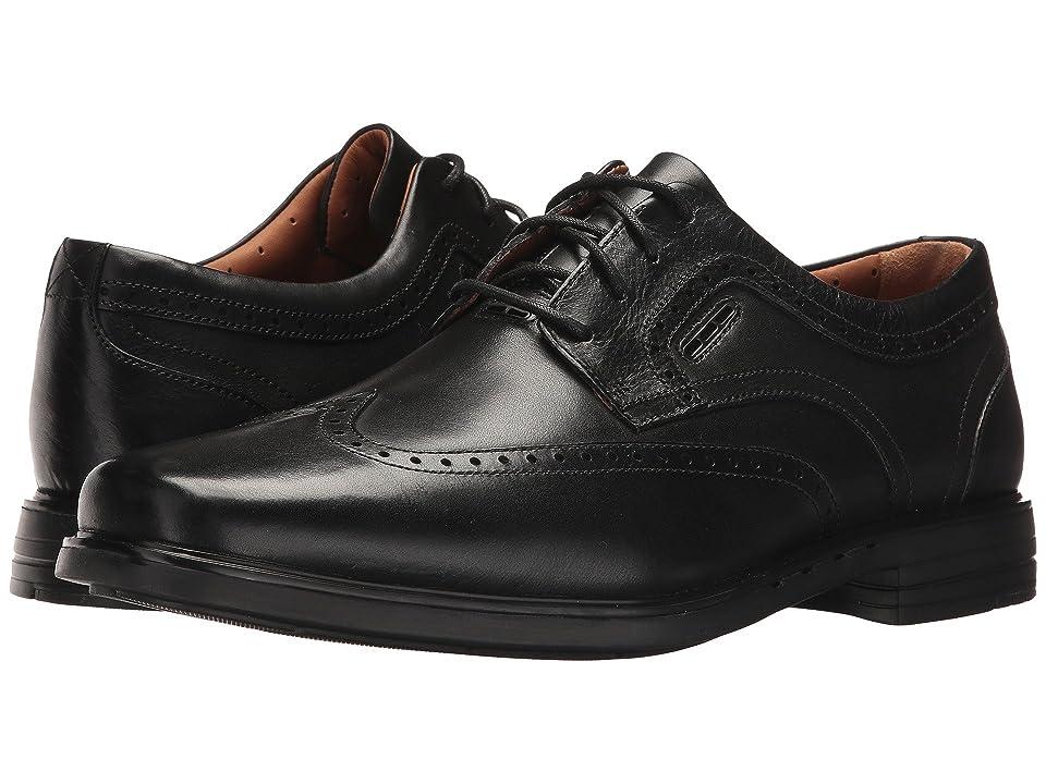 Clarks UnBrylan Wing (Black Leather) Men