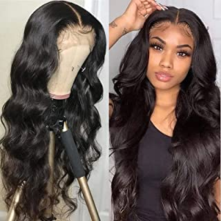 Sponsored Ad - Brazilian 13x4 Transparent Body Wave Human Hair Lace Front Wigs 150% Density Pre-plucked Bleached Knots wit...