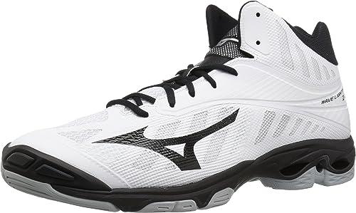 Mizuno Wave Lightning Z4 Mid Volleyball chaussures, blanc noir, Men's 15 D US