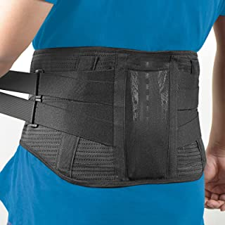 Lower Back Brace - HICHOR Back Support Belt for Waist Pain Relief by Herniated Disc, Sciatica, Scoliosis on Men & Women, U...