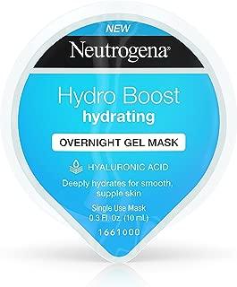 Neutrogena Hydro Boost Moisturizing Overnight Gel Cream Face Mask with Hydrating Hyaluronic Acid, 0.3 fl. oz (Pack of 12)