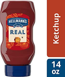 Hellmann's Real Ketchup Squeeze Bottle Sweetened only with Honey, Gluten Free, No Artificial Colors, Flavors, or Preservatives, Made with Non GMO Sourced Ingredients, Kosher, 14 Ounce (Pack of 12)