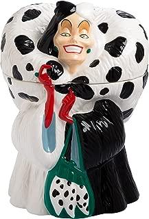 Vandor 55758 Disney Cruella De Vil Sculpted Ceramic Cookie Jar Canister, 6.8 x 10.8 x 6.5 Inches