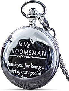 "Groomsmen Gifts for Wedding or Proposal - Engraved""to My Groomsman"" Pocket Watch - Luxury Wedding Gift"
