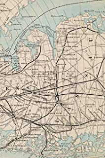 Rapid Transit Map of Kings, Queens, and Nassau Counties, Long Island: A Poetose Notebook / Journal / Diary (50 pages/25 sheets) (Poetose Notebooks)