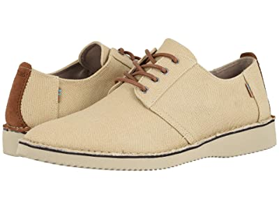 TOMS Preston (Natural Textured Twill/Stitch Out) Men