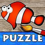 Oceano - Puzzle e Disegni da Colorare per Bambini, Giochi con gli Animali del Mare