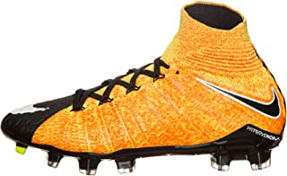Nike Kids' Jr. Hypervenom Phantom 3 DF FG Soccer Shoe (Sz. 5Y) Laser Orange, Black