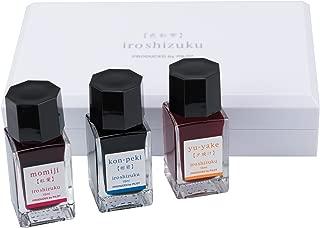 Pilot Iroshizuku Fountain Pen Ink 3 Mini Bottle Summer Set, 15 mL Each, Momiji, Kon-peki, Yu-yake (69229)