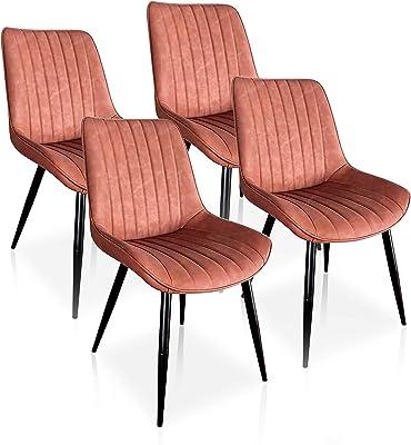 Albatros 2698 MILANO Set de 6 sillas de comedor, negro ...