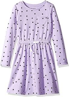 Amazon Essentials Girl's Long-Sleeve Elastic Waist T-Shirt Dress