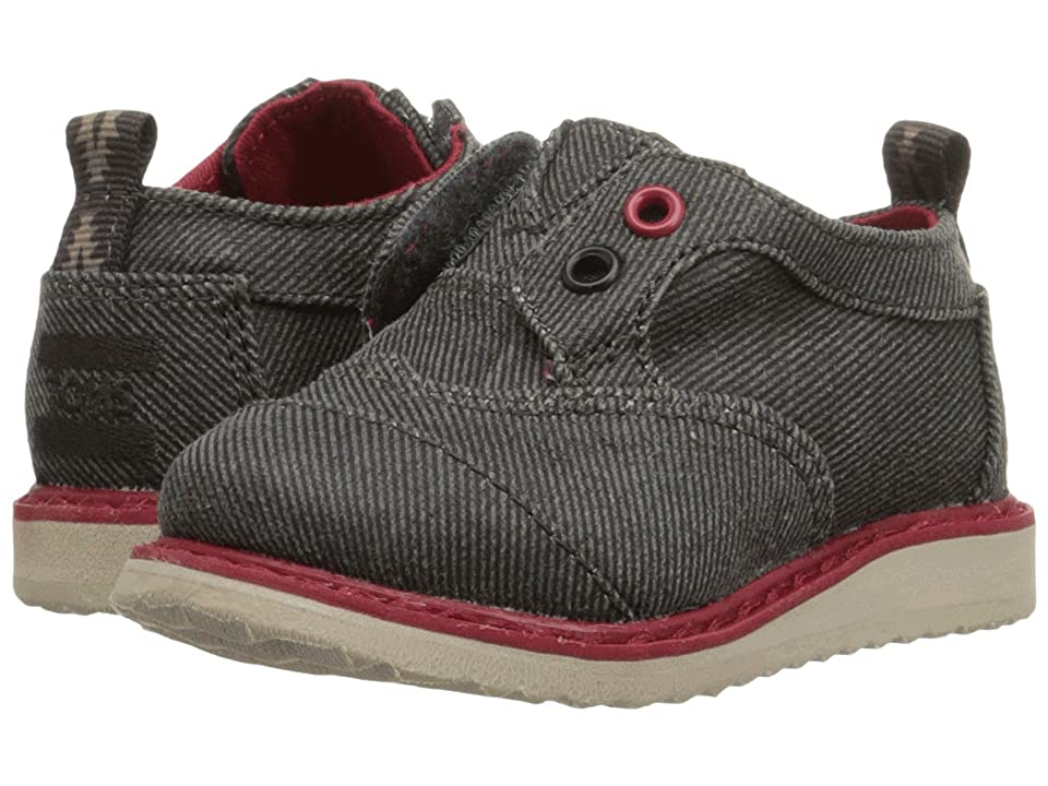 TOMS Kids Brogue Dress (Infant/Toddler/Little Kid) (Ash Twill) Boys Shoes