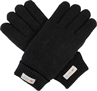 Bruceriver Big Men Wool Blend Knit Gloves with Thinsulate Lining