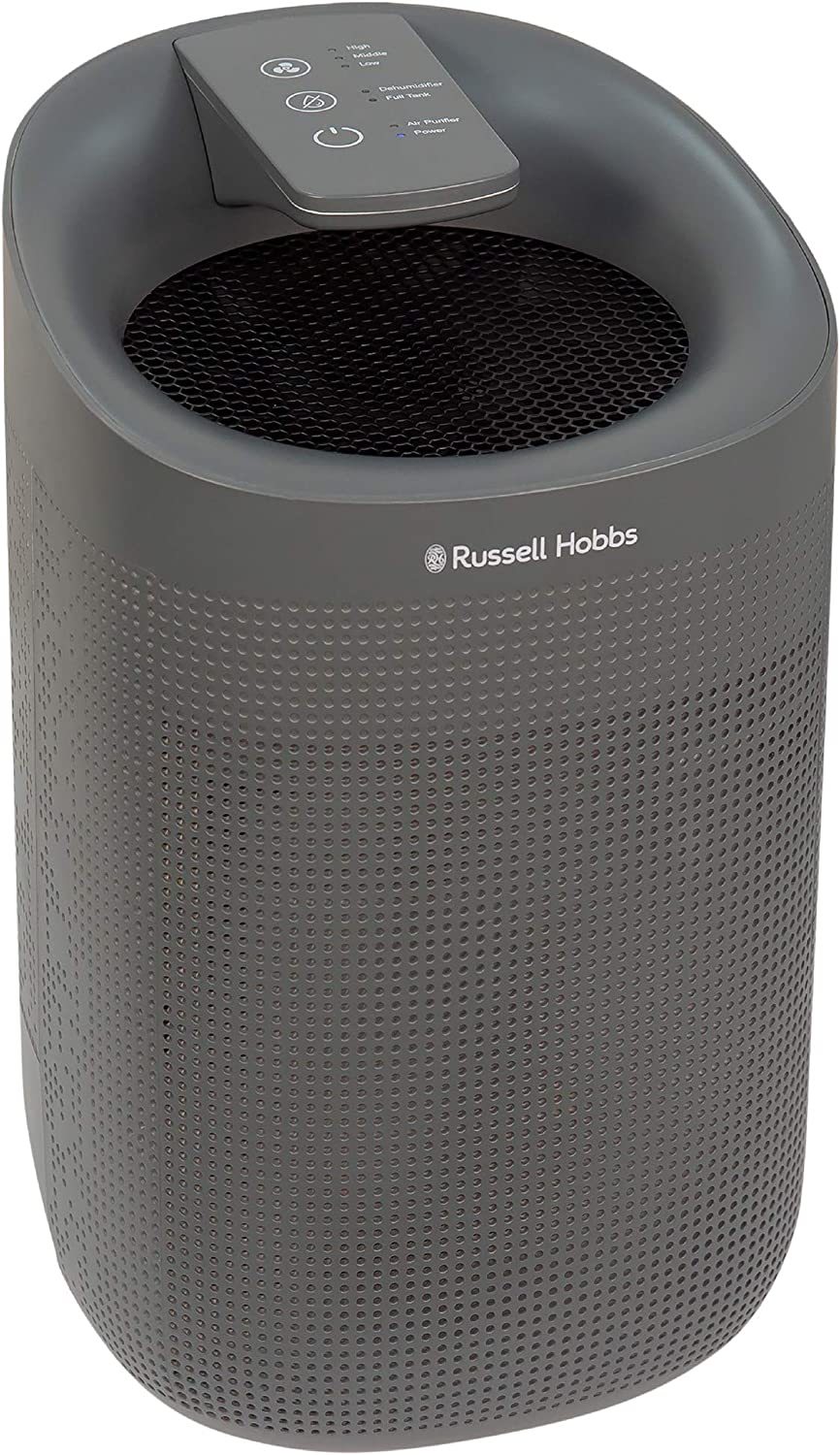 Garage LED Lighting /& Captures Bacteria Caravan Russell Hobbs RHDH1101B 1L 2 in 1 Black Dehumidifier//Air Purifier with HEPA Filter 20m2 Room Size Kitchen Basement for Home Bathroom