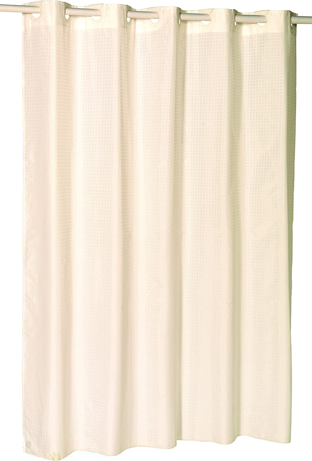 Carnation Home Fashions EZ On Fabric Ivory Curtain Check sale Shower Max 54% OFF