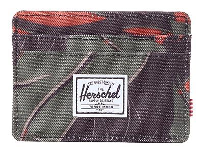 Herschel Supply Co. Charlie RFID (Dark Olive Palm) Wallet Handbags