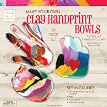 Hapinest Make Your Own Clay Handprint Bowls Craft Kit for Kids Boys and Girls Ages 6 Years and Up