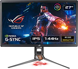 "ASUS ROG Swift PG27UQ, Monitor de Gaming, 4K UHD (3840 X 2160), 144 Hz (OC.), G-Sync HDR, Punto Cuántico, IPS, Aura Sync, HDMI/USB, 27"" (68.6cm)"
