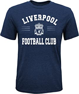 International Soccer Liverpool Youth Boys Traditional Short Sleeve Tee, Large (14-16), Navy