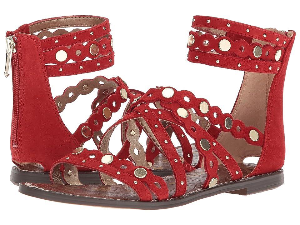 Sam Edelman Geren (Candy Red Kid Suede Leather) Women