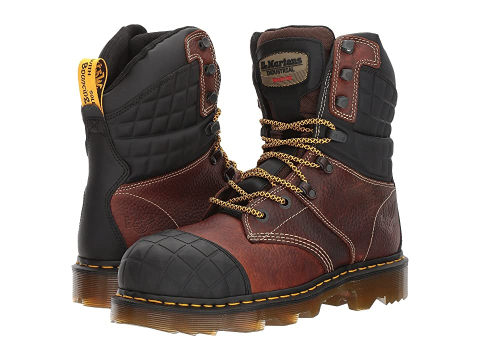 Dr. Martens Moreton Steel Toe (Teak Industrial Bear/Black Soft Rubbery) Boots
