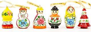 craftsfromrussia Christmas Ornaments - Set of 6 - Handmade in Russia (6, K1)