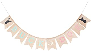 Gender Reveal Party Supplies for Baby - Burlap Banner for Gender Reveal,Buck or Doe Banner for Party Decorations,Best Baby Shower Ideas