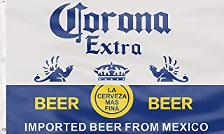 Corona Extra Beer Flag Funny Poster UV Resistance Fading&Durable Man Cave Wall Flag with Brass Grommets for Dorm Room Deco...