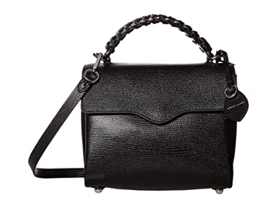 Rebecca Minkoff Chain Satchel (Black) Handbags
