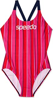 Speedo Women's Limit LEADERBCK ONE Piece, LIM Vert/Sp NVY