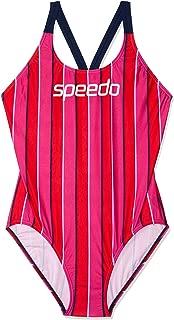 Speedo Women's Limit LEADERBCK ONE Piece, LIM Vert/Sp NVY