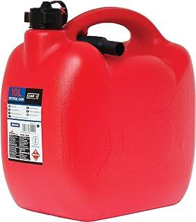Sumex CAR+ Bidon05 - Bidón Gasolina de plástico con Tubo Flexible, 10 Litros, color Rojo