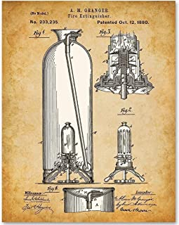 Fire Extinguisher - 11x14 Unframed Patent Print - Makes a Great Gift Under $15 for Firemen